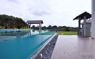 A lush bungalow with natural swimming pool