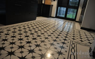 Building the 1930s design with cement tiles