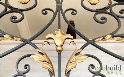 The Beautiful and Intricate Look of Wrought Iron in a Bungalow House
