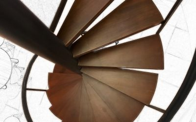 The elegance of spiral staircase